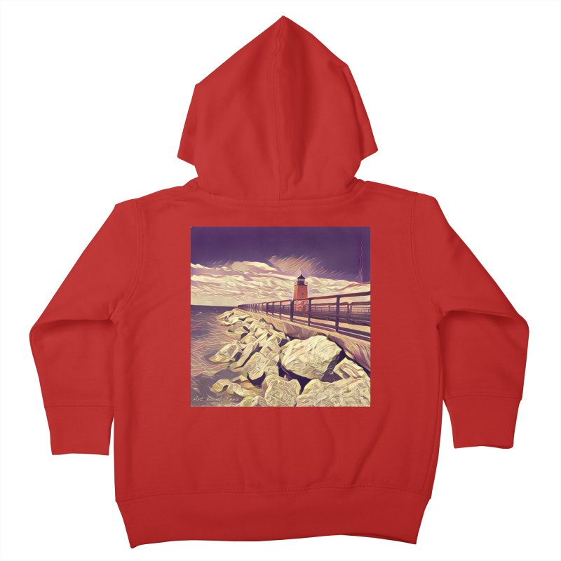 The Lighthouse Kids Toddler Zip-Up Hoody by artbombtees's Artist Shop
