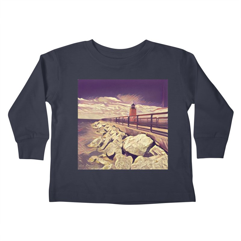 The Lighthouse Kids Toddler Longsleeve T-Shirt by artbombtees's Artist Shop