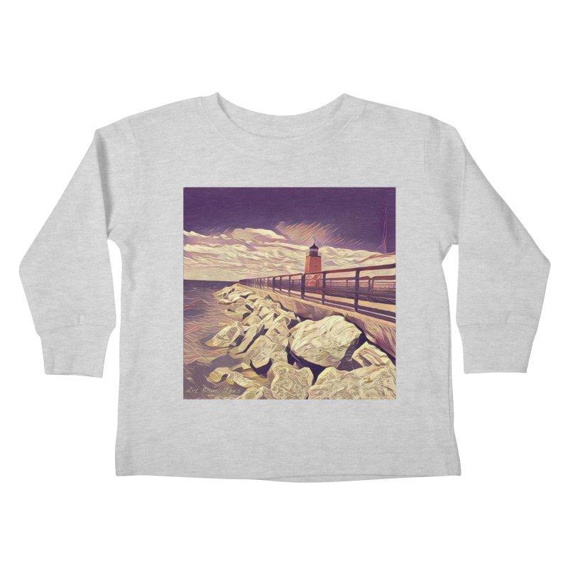 The Lighthouse Kids Toddler Longsleeve T-Shirt by artbombtees's Artist Shop