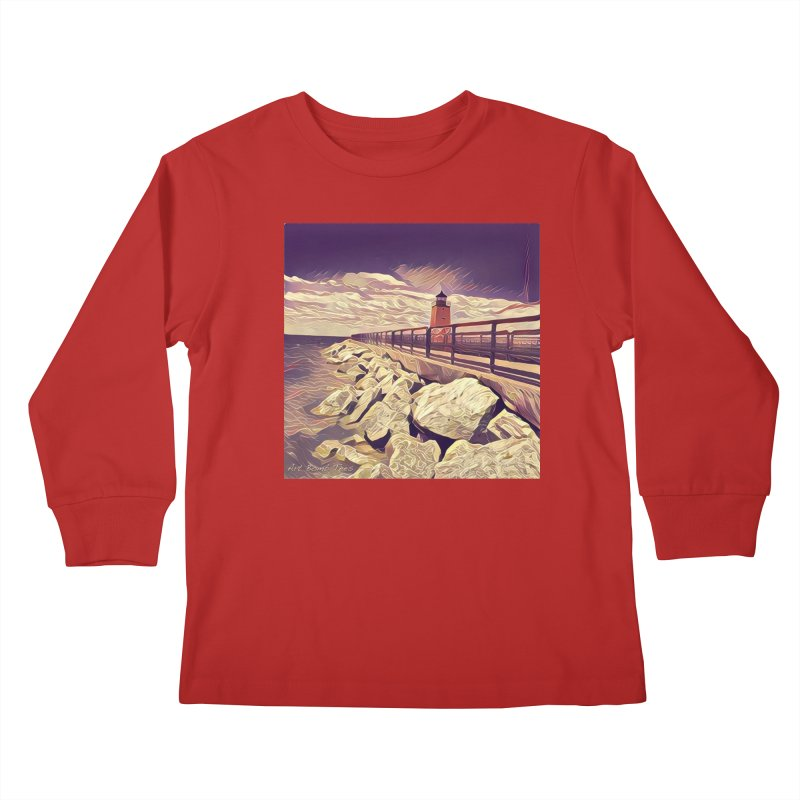 The Lighthouse Kids Longsleeve T-Shirt by artbombtees's Artist Shop