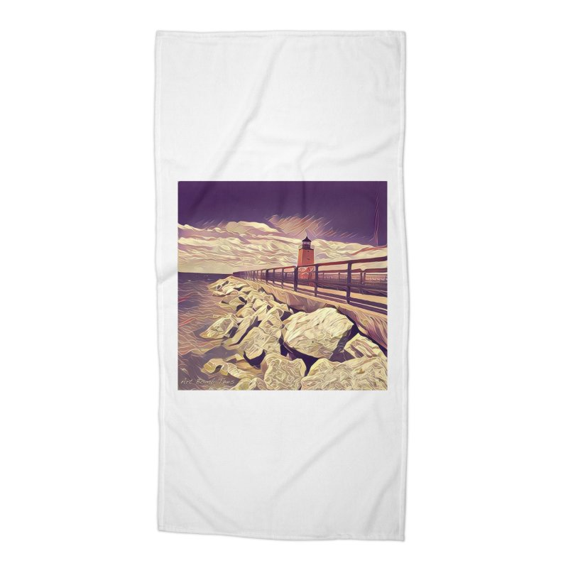 The Lighthouse Accessories Beach Towel by artbombtees's Artist Shop