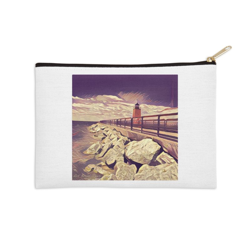 The Lighthouse Accessories Zip Pouch by artbombtees's Artist Shop