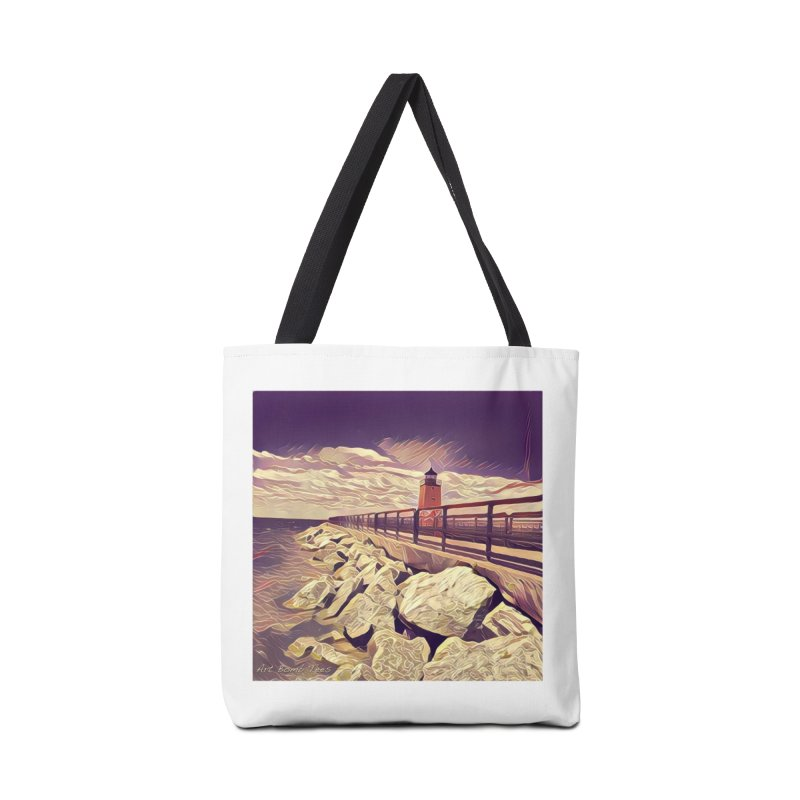 The Lighthouse Accessories Bag by artbombtees's Artist Shop