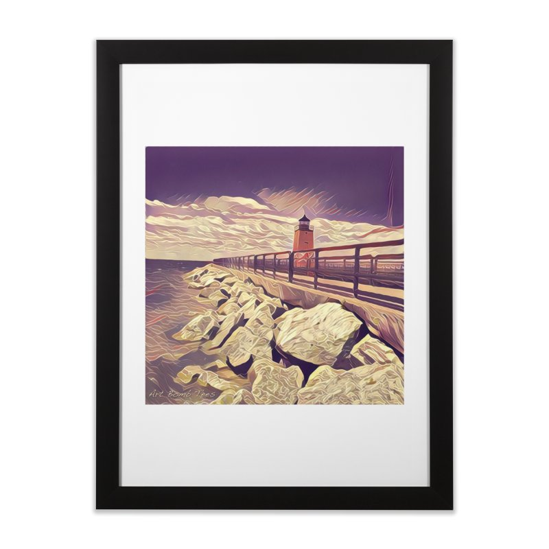 The Lighthouse Home Framed Fine Art Print by artbombtees's Artist Shop