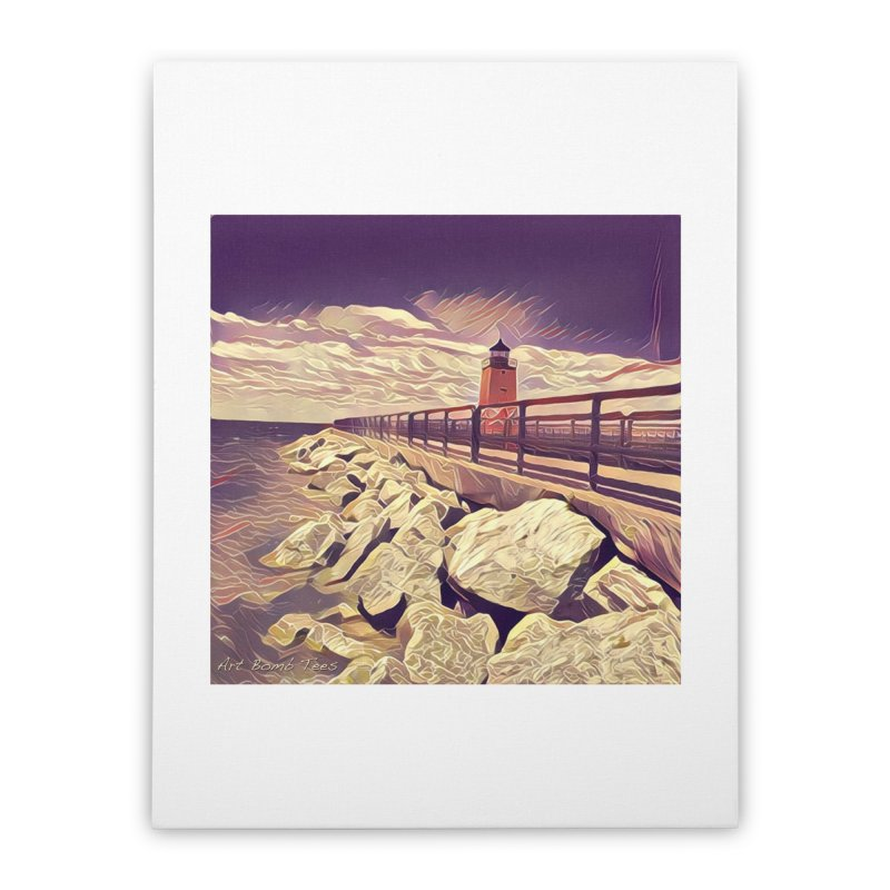 The Lighthouse Home Stretched Canvas by artbombtees's Artist Shop