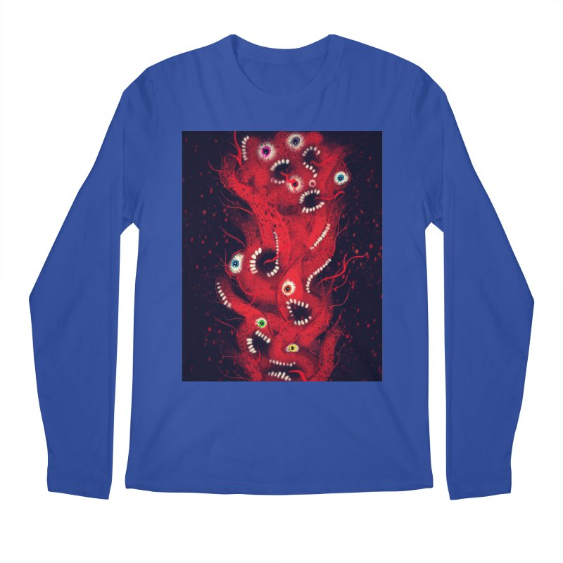 Anxiety Men's Regular Longsleeve T-Shirt by artbombtees's Artist Shop