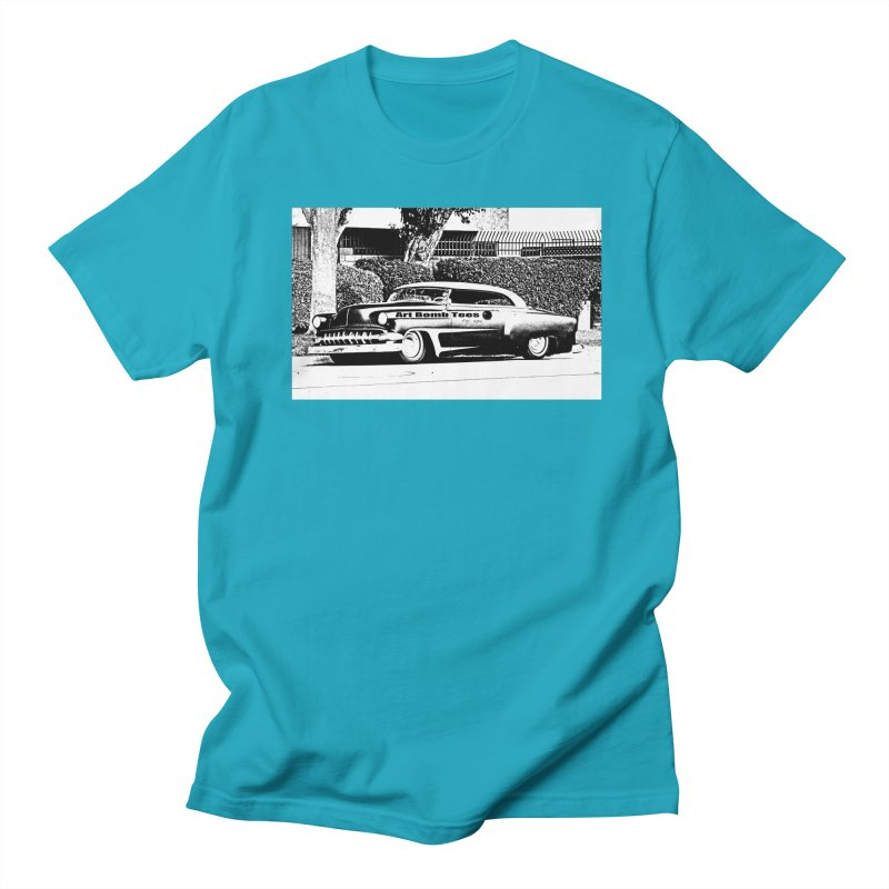 Getaway Car in Men's T-shirt Cyan by artbombtees's Artist Shop