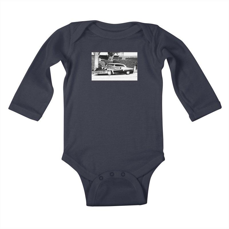 Getaway Car Kids Baby Longsleeve Bodysuit by artbombtees's Artist Shop