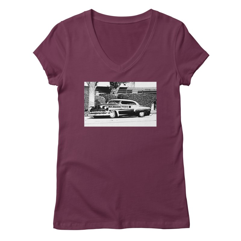 Getaway Car Women's V-Neck by artbombtees's Artist Shop