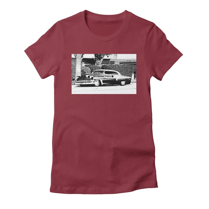 Getaway Car Women's Fitted T-Shirt by artbombtees's Artist Shop
