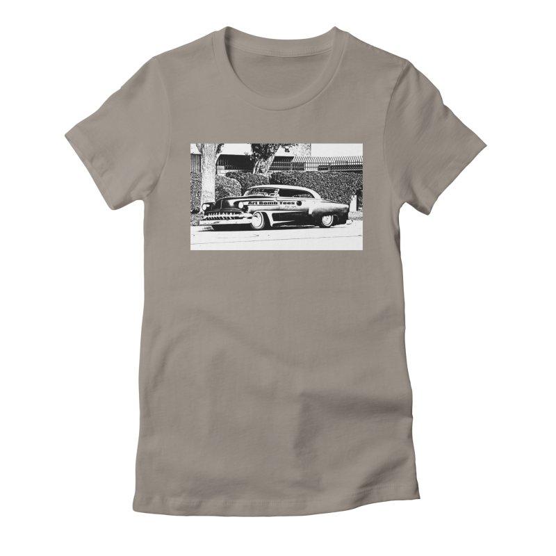 Getaway Car Women's Fitted T-Shirt by artbombtees's Artist Shop