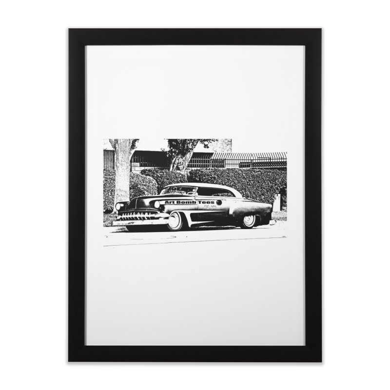 Getaway Car Home Framed Fine Art Print by artbombtees's Artist Shop