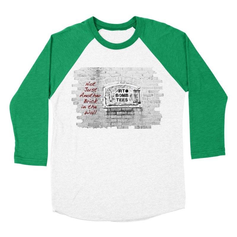Brick Men's Baseball Triblend T-Shirt by artbombtees's Artist Shop