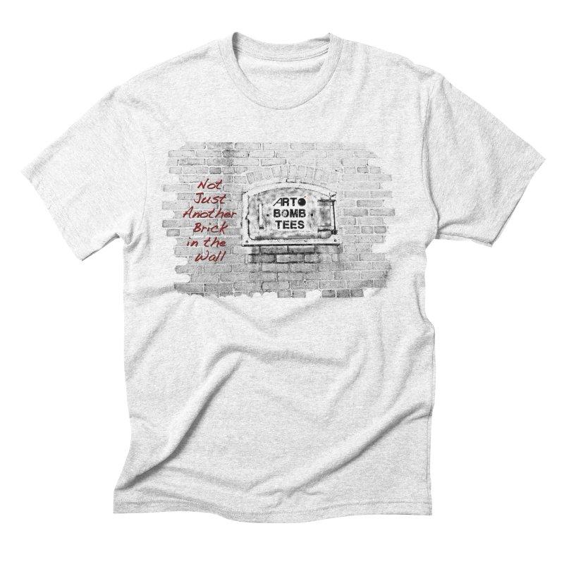 Brick Men's Triblend T-shirt by artbombtees's Artist Shop