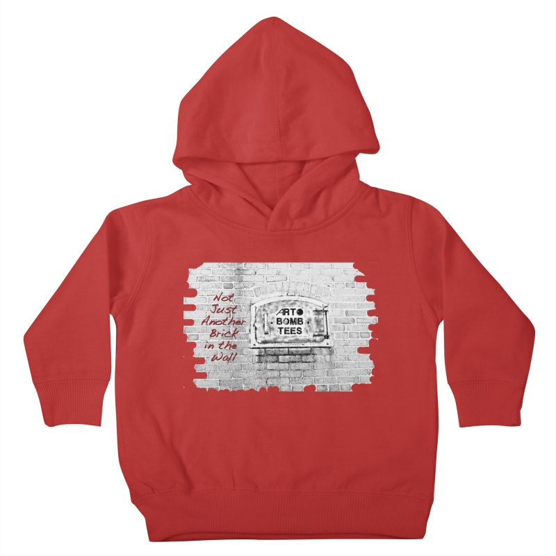 Brick Kids Toddler Pullover Hoody by artbombtees's Artist Shop