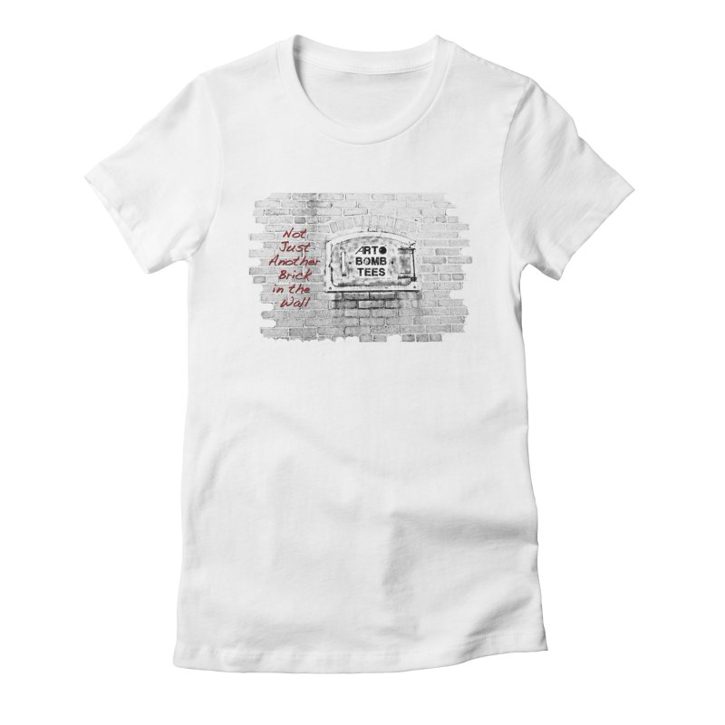 Brick Women's Fitted T-Shirt by artbombtees's Artist Shop