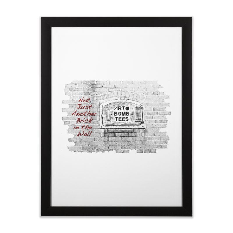 Brick Home Framed Fine Art Print by artbombtees's Artist Shop