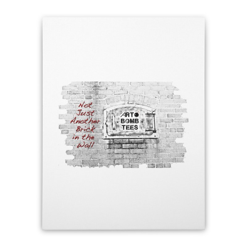 Brick Home Stretched Canvas by artbombtees's Artist Shop