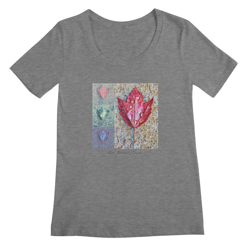 Autumn Colors  Women's Scoopneck by artbombtees's Artist Shop