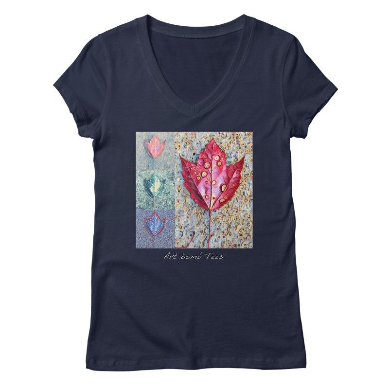 Autumn Colors  Women's V-Neck by artbombtees's Artist Shop