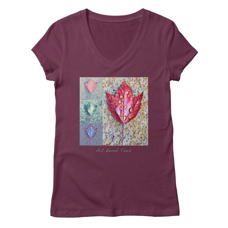Autumn Colors  Women's Regular V-Neck by artbombtees's Artist Shop