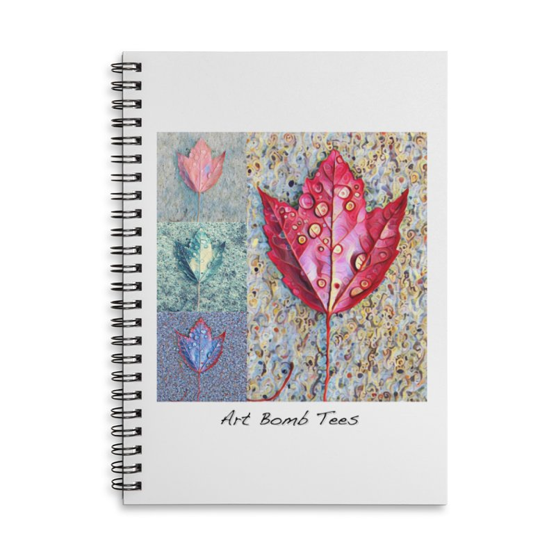 Autumn Colors  Accessories Lined Spiral Notebook by artbombtees's Artist Shop