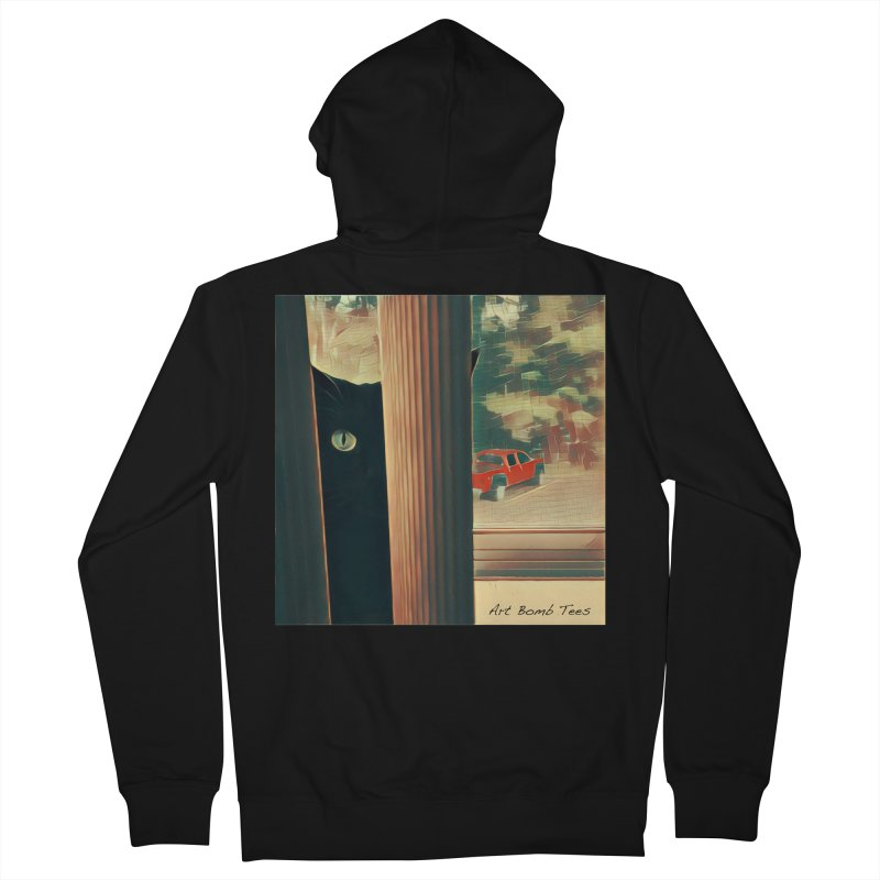 Cat's Eye Men's Zip-Up Hoody by artbombtees's Artist Shop
