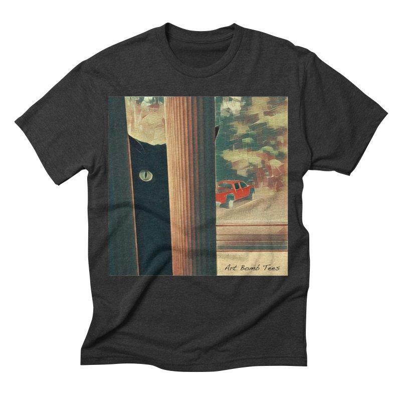 Cat's Eye Men's Triblend T-shirt by artbombtees's Artist Shop