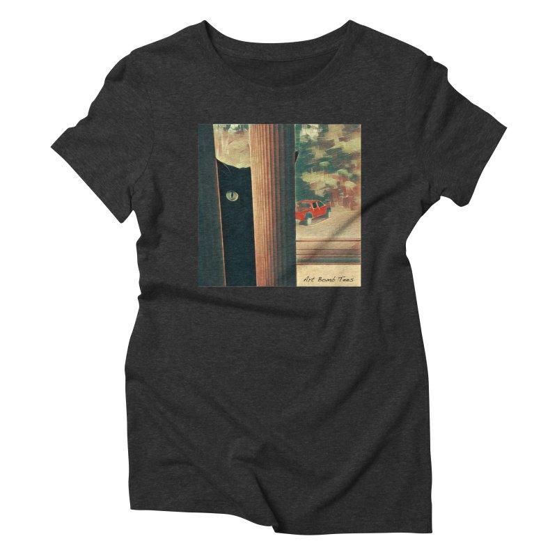 Cat's Eye Women's Triblend T-shirt by artbombtees's Artist Shop