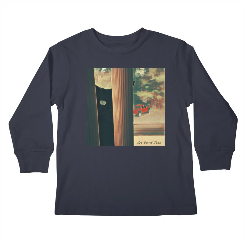 Cat's Eye Kids Longsleeve T-Shirt by artbombtees's Artist Shop