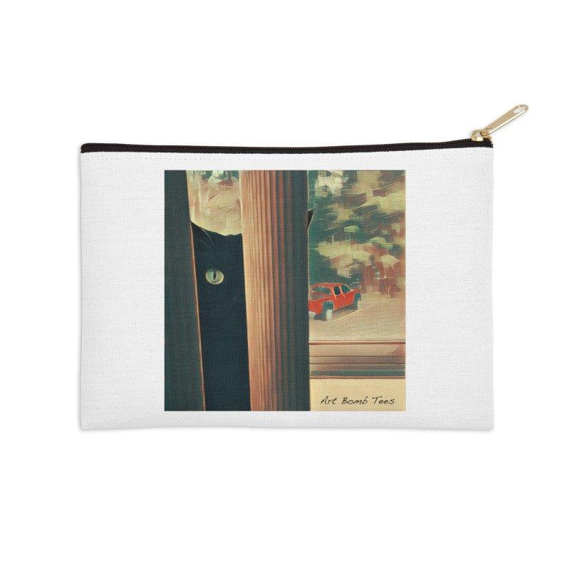 Cat's Eye Accessories Zip Pouch by artbombtees's Artist Shop