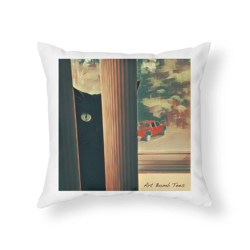 Cat's Eye Home Throw Pillow by artbombtees's Artist Shop