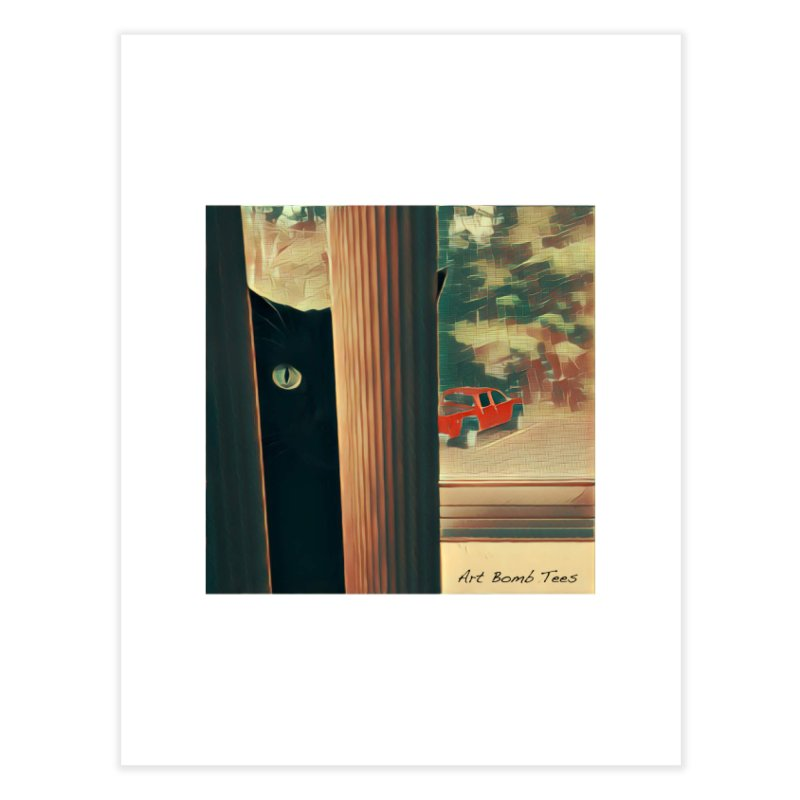 Cat's Eye Home Fine Art Print by artbombtees's Artist Shop