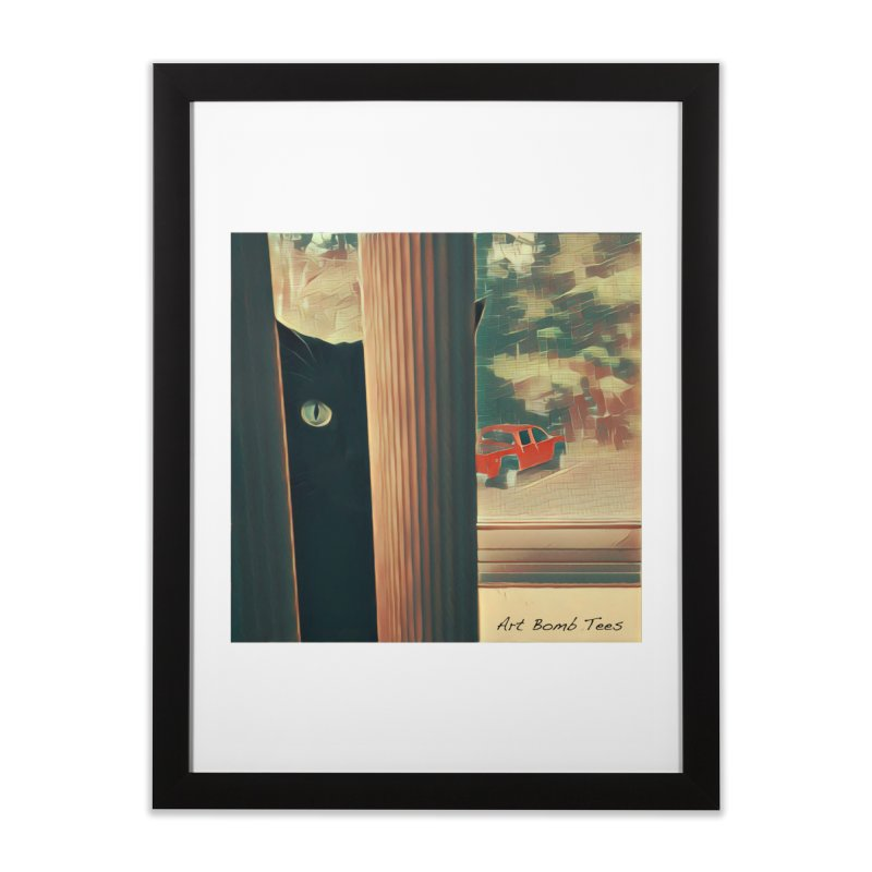 Cat's Eye Home Framed Fine Art Print by artbombtees's Artist Shop