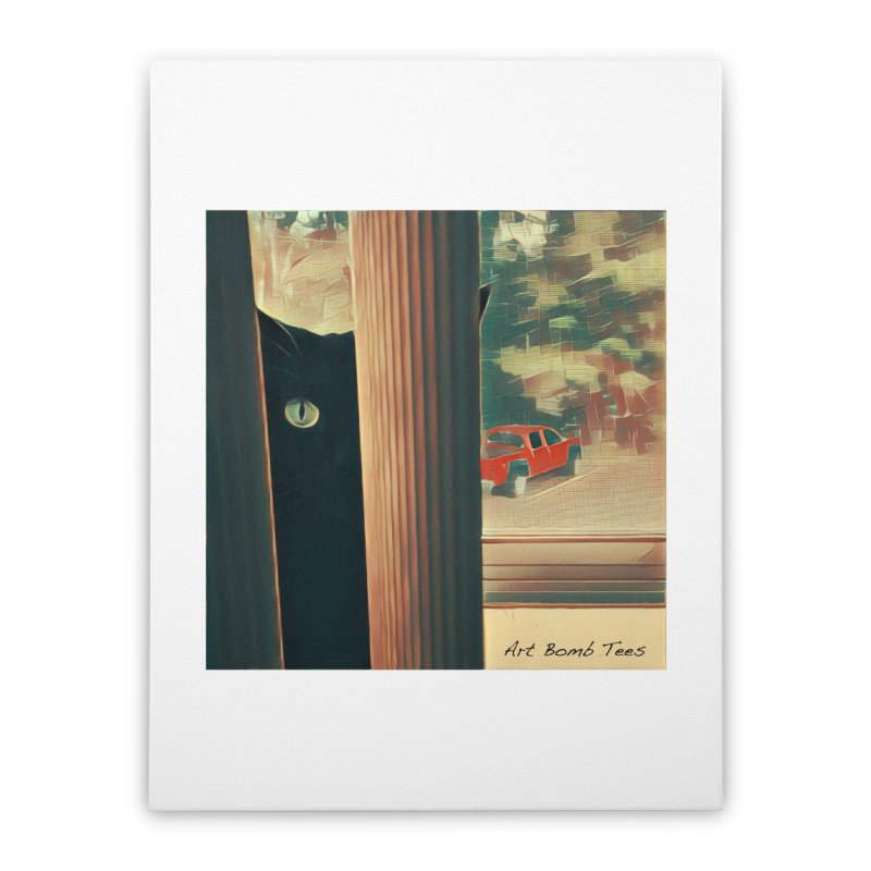 Cat's Eye Home Stretched Canvas by artbombtees's Artist Shop
