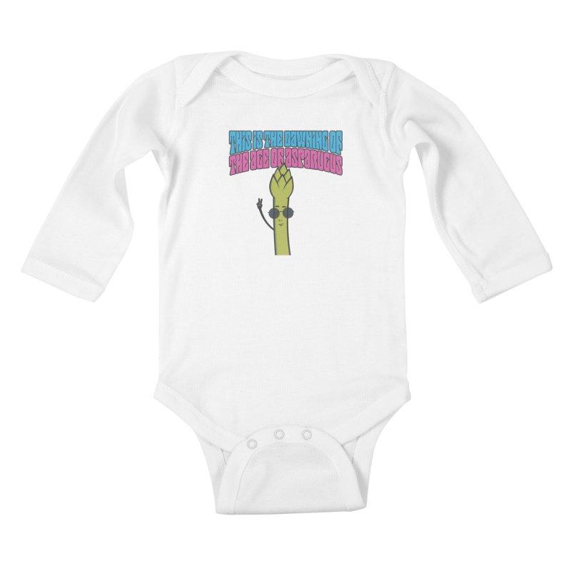 Age of Asparagus Kids Baby Longsleeve Bodysuit by artboy's Artist Shop
