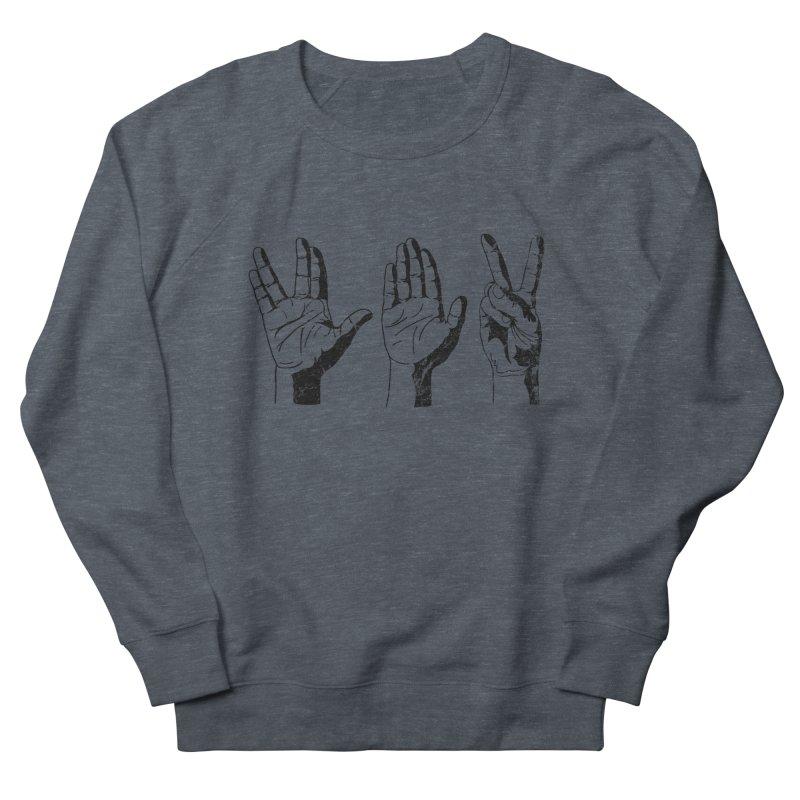 Spock-Paper-Scissors Men's French Terry Sweatshirt by artboy's Artist Shop