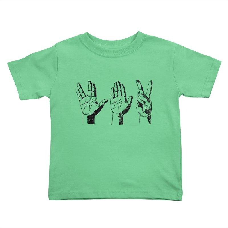 Spock-Paper-Scissors Kids Toddler T-Shirt by artboy's Artist Shop