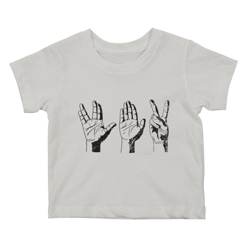 Spock-Paper-Scissors Kids Baby T-Shirt by artboy's Artist Shop
