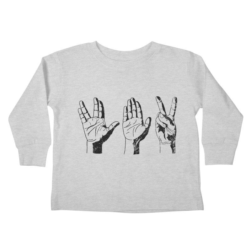 Spock-Paper-Scissors Kids Toddler Longsleeve T-Shirt by artboy's Artist Shop