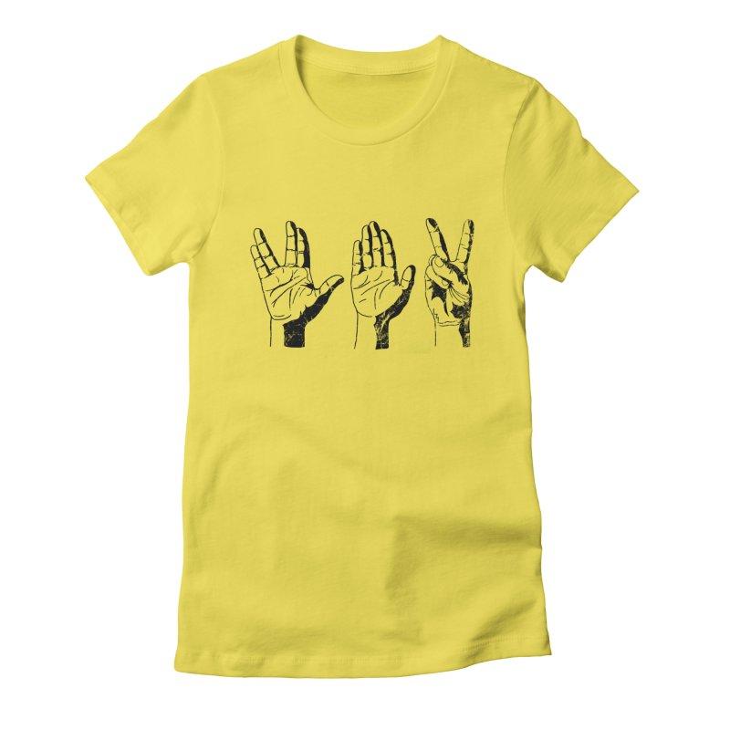 Spock-Paper-Scissors Women's Fitted T-Shirt by artboy's Artist Shop