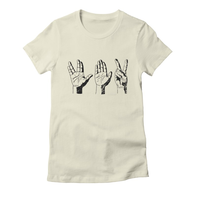 Spock-Paper-Scissors Women's Fitted T-Shirt by artboy's Artist Shop