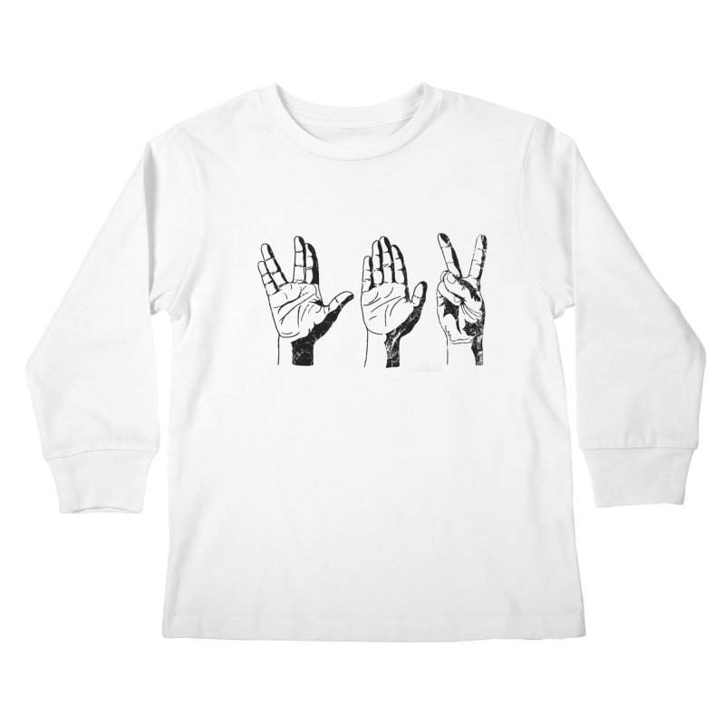 Spock-Paper-Scissors Kids Longsleeve T-Shirt by artboy's Artist Shop