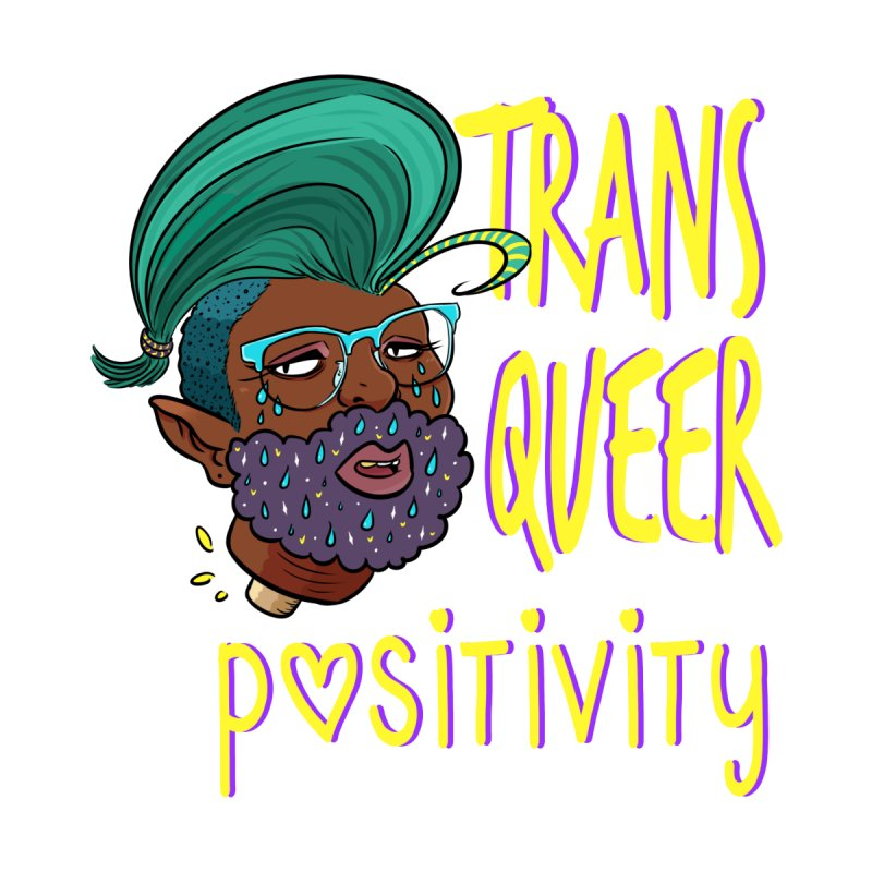 Trans Queer Positivity Men's T-Shirt by Art by Ash Walsh