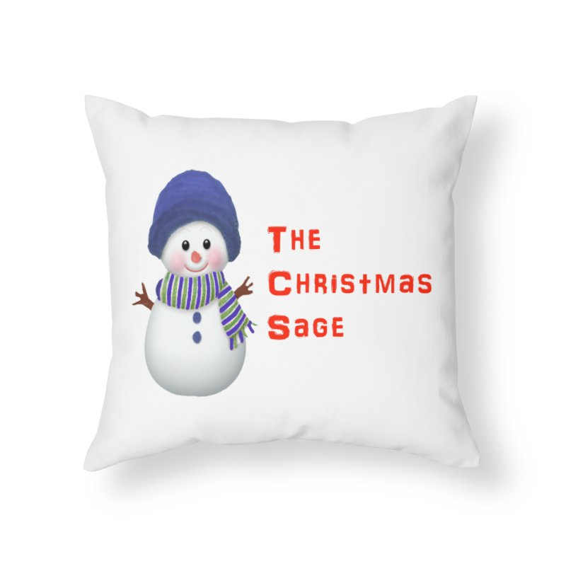 The Christmas Sage Logo Home Throw Pillow by Art By BB's Artist Shop