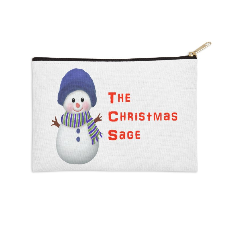 The Christmas Sage Logo Accessories Zip Pouch by Art By BB's Artist Shop