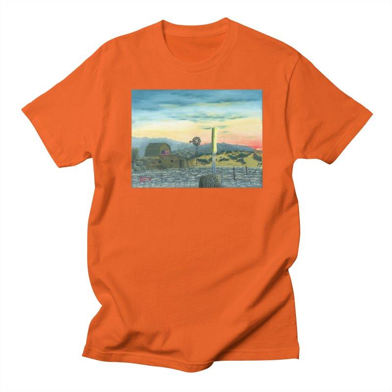 Made in America in Men's Regular T-Shirt Orange Poppy by ArtByBB's Artist Shop