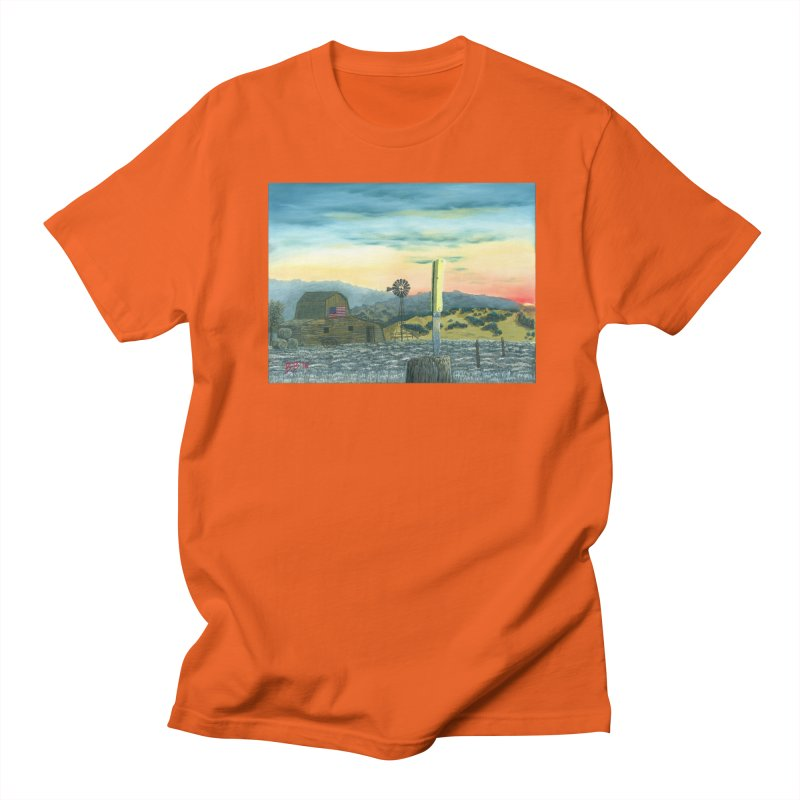 Made in America in Men's Regular T-Shirt Orange Poppy by ArtByBB's Artist Shop