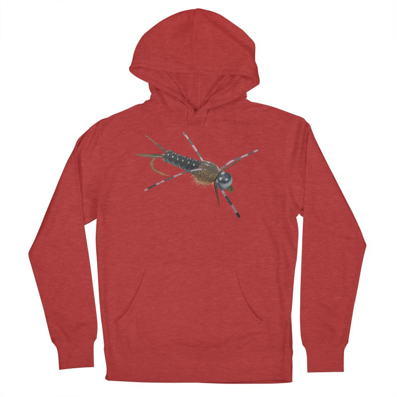 Black Stonefly PNG (No Background) in Men's French Terry Pullover Hoody Heather Red by Art By BB's Artist Shop