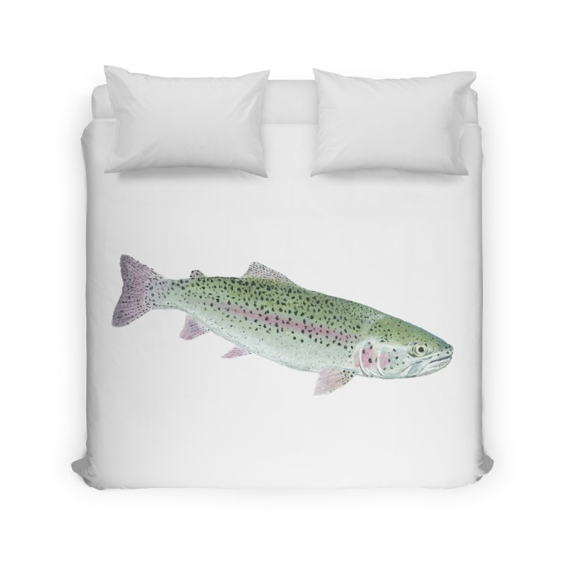 Rainbow Trout PNG Home Duvet by Art By BB's Artist Shop